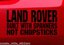 LAND ROVER BUILT 4x4 discovery Series Funny Vinyl Stickers 200mm