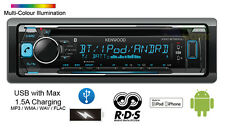 KENWOOD KDC-BT600U S/DIN CAR CD RECEIVER AUX USB IPHONE ANDROID BLUETOOTH STEREO
