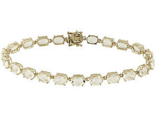 12.00ctw Oval Yellow Labradorite 18k Yellow Gold Over Sterling Silver Bracelet