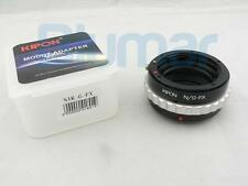 New Kipon adapter for Nikon F AI Mount G DX lens to Fujifilm X-Pro1 & Fuji X-E1