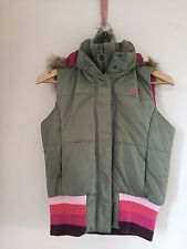 ROXY  Green Gilet Bodywarmer Hooded padded Size 14