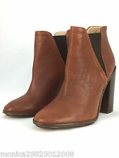 ZARA BROWN TAN LEATHER HIGH HEEL ANKLE BOOTS SHOES SIZE UK6/EUR39/US8