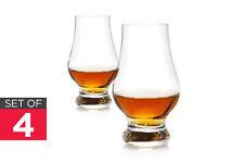 NEW Ovela Whisky Glass 4 Pack Crystal 6.6 x 6.6 x 11.5cm Whisky Drinkware
