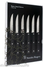 Stanley Rogers Bistro 6 Piece Steak Knife Set! Stainless Steel! RRP $59.95!