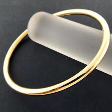 AN910 GENUINE REAL 18K YELLOW G/F GOLD SOLID LADIES GOLF CUFF BANGLE BRACELET