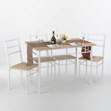 5PCS Dinning Set 1PCS Dining Table and 4 Chairs Kitchen Dinning Room Beech Set