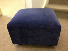 Footstool / pouffe / small box stool blue velvet gift present British made