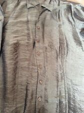 M&S Green Silky Blouse Size 12