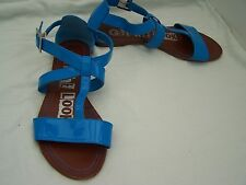 Size 5 blue patent flat sandals from Next