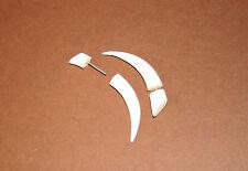 Handmade Tribal Ethnic Natural Bone Hoop Fake Plug Taper Earrings Piercing Tooth