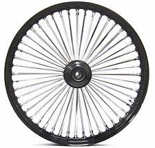 48 King Fat Spoke 21 X 2.15 Front Wheel Black Rim Hub Harley Softail Wide Glide