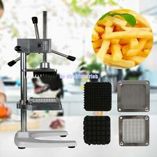 Potato French Fry Fruit Vegetable Cutter Slicer Commercial Stainless W/ 3 Blades