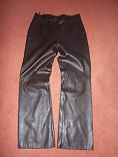 MARKS & SPENCERS BROWN FAUX LEATHER TROUSERS SIZE 10 REGULAR - NEW