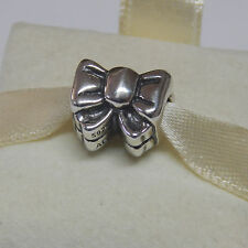 Authentic Pandora 791204 Sterling Silver Charm Bow Perfect Gift Box Included
