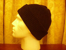 Mens Knitted Beanie- Army Watch Type 100% Wool Black,Grey or other colours