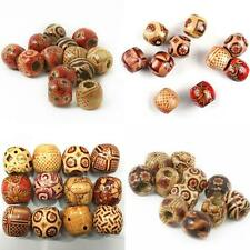 Pretty 100pcs Wood Round Beads for Diy Jewelry Making Loose Spacer 10mm