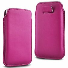 For Pantech Flex P8010 - Pink PU Leather Pull Tab Case Cover Pouch