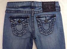 Women's True Religion Joey Super T Jeans in Medium Drifter Black Stitch size 26