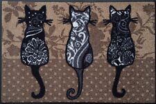 Waschbare Fussmatte Katzenbande Katzen ca 40 x 60cm wash+dry Fußabstreifer