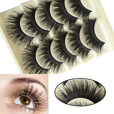 Nice 5 Pairs Long Thick Handmade Cross Makeup Fishion False Eyelashes Eye Lashes