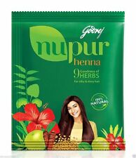 Godrej Nupur Henna Mehndi Mehendi Powder, 9 Herbs Blend, Hair Dye Color, 400 gm