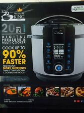 Pressure King Pro (6L) 20-in-1 Digital Multi-Cooker (Stainless Steel)