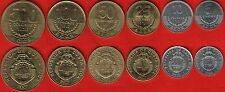 Costa Rica set of 6 coins: 5 - 500 colones 2007-2012 UNC