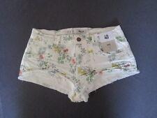 Damen Shorts Blumenmuster Gr. 40 Baumwollmischgewebe