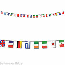 23ft Sports MULTI NATION Party International Flag Banner Bunting Decoration