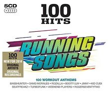 100 Hits ~ Running Songs NEW SEALED 5 CD SET OF WORKOUT ANTHEMS ALL ORIGINALS