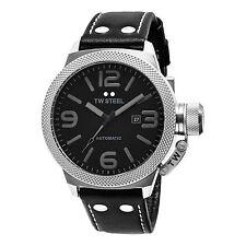 TW Steel Men's TWA200 Canteen Black Leather Strap Watch
