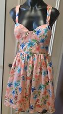 Ladakh Dress Size 12 Cut Out Back Pretty Floral As New Stunning!