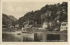 Schiff, Elbe-Dampfer Dresden bei Rathen, Elbsandsteingebirge, alte Ak um 1940