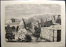 BITLIS Anatolien TÜRKEI Türkiye. Orig. Holzstich 1880