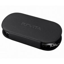Official Black Leather Carry Case, Cover for Sony Playstation PS Vita / PSP Vita