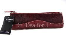 OSPREY LONDON New Women's Make up Purse Red Animal Leather Cosmetic Bag RRP:£65