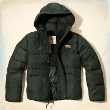 BNWT New Men's Hollister Puffer Puffa hoodie Jacket  Large bidding for £49.99