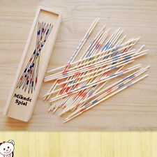 Baby Educational Wooden Traditional Mikado Spiel Pick Up Sticks With Box Game UL