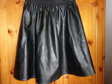 Stunning black PVC effect skirt, elasticated waist, ATMOSPHERE, size 8