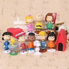 Peanuts Charlie Brown Snoopy Playset 12 Figure Cake Topper * USA SELLER* Toy Set