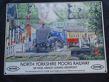 Yorkshire Moors Railway Large Metal Sign Steam Train - New Film Prop