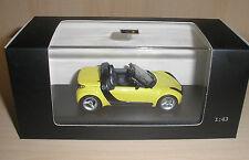 Smart Roadster gelb (shine yellow) in 1:43 von Minichamps
