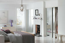 Sliding Wardrobe Doors (Mirrored x 2) & Storage. Up to 1803mm (5ft 11ins) wide