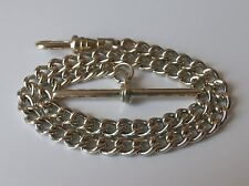 Silver Plated Albert Pocket Watch Chain.