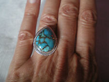 Copper Mojave Turquoise ring, size N/O, 14 carats, 7.55 grams 925 Sterling Silve