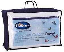 NEW Premium Silentnight Egyptian Cotton Duvet - 10.5 Tog - King Size Bed Quilt