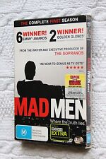 Mad Men The Complete First Season (DVD, 3-Disc set), R-4, Like new, free post