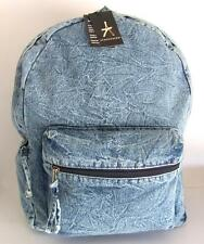 PRIMARK ATMOSPHERE # XL Backpack Denim Jeans Canvas # Bag Rucksack # Blue