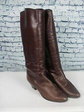 A PAIR OF LADIES SOFT LEATHER BOOTS MADRAS MADE IN ITALY SIZE UK 6.