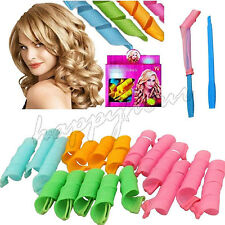 18pcs MIX DIY Natural Hair Styling Magic Twist Circle Rollers Perm Curler Tool